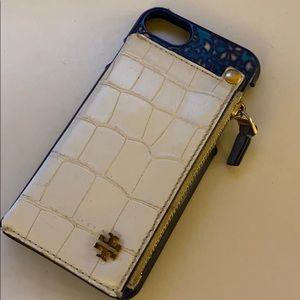 Tory Burch IPhone 8 phone case + card holder